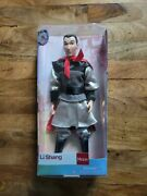 Disney Store Mulan Li Shang 12 Doll W/ Clothes Set Collectible Toy As Is Nidsb