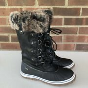 Steve Madden Faux Fur Lined Lace Up Mid Calf Snow Winter Boots Womenandrsquos Us 10