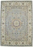 Extra Fine Classic Floral Style 6x8 Handmade Indo-nain Oriental Rug Home Carpet