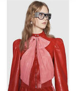 Nwt Red Leather Pink Bow Jacket 40