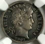 1907 Ngc Pf63 Silver Barber Liberty Head Proof Dime 10c Ultra Rare Early Proof