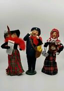 Lot Of 3 Byers Choice Carolers Music Actress, Postman, Doll '96, '96, '02