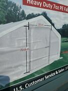 Covermore Greenhouse 12 X 30 X 7 Clear Heavy Pe White Transparent Mesh