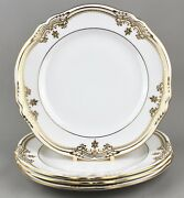Spode Stafford White 23.5cm 9andfrac14andrdquo Luncheon Small Dinner Plates X 4 1st Nr Mint