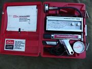 Sun Tune-up Testing Kit In Case W/ Dwell-tack, Timing Light, Vac + Comp Gauges
