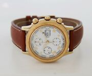 Festina Chronograph Automatic Valjoux 7750 Steel And Gold Plated Menand039s Watch