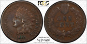 1873 Indian Cent Pcgs Secure Shield Xf40 Open 3 S-6 Fs 1302