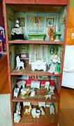 Very Htf 1890 Victorian Dunham Cocoanut Crate Dollhouse Nice Cond Full Lithos