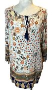 Lucy And Laurel Anthropologie Floral Peasant Boho Casual Top Blouse Womens Size 1x