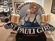 St. Pauli Girl Beer Mugs Advertising Hanging Inflatable German 3and039 X 4and039 3d F67