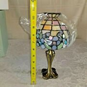 Partylite Candle Lamp Style Stained Glass Tealight Votive Holder