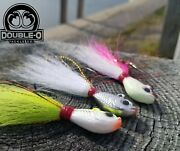 Lot Of 29 1oz And 2oz Bucktail Jigs Oo Tackle Co. Factory Seconds Striper Fluke