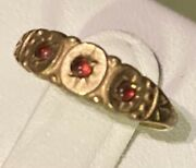 Victorian Antique Ruby Stone Baby Ring Band
