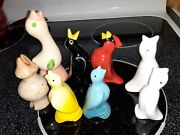 Collection Of 8 Pie Birds/vents, All In Great Shape.