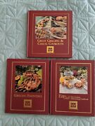 Set Of 3 Cooking Club Of America Cookbooks - Outdoor Grilling And Entertaining