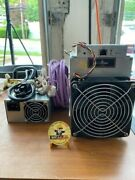 2 Bitmain Antminer L3+ 504+mh/s Doge Litecoin With Power Supply +challenge Coin