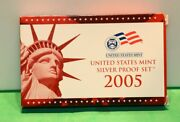 2005-s 90 Silver Proof Set United States Mint Original Government Packaging Box
