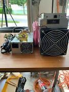 4 Bitmain Antminer L3+ 504+mh/s Doge Litecoin With Power Supply +challenge Coin