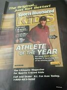 2001 Tiger Woods Si Kids Poster Grand Slam Athlete Of The Year Cards 30 Magazine