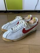 Nike Leather Cortez White X Red Made In Korea Men's Size 10 Half 80s Vintage