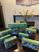 Lot Of 7 - Complete Lego Minecraft Sets W/instructions And Box - Excellent Used