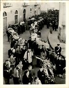 Ga93 And03954 Orig Photo Funeral Services For Jet Airliner Victims Porto Azzuro Italy