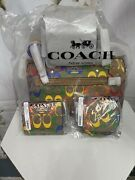 Coach Pride Rowen Satchel /snap Wallet/ Coin Pouch/ Amazing Nwts Sold Out Sale