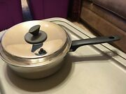 Ekco Prudential Ware Cookware 3 Qt Pan Stainless Tri-clad Titanium Vented Lid