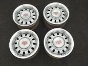 1968 1969 Ford Mustang Torino Original Gt Argent Styled Steel Wheels Set Of 4