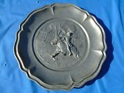 Wall Hanging Plate Paul Revere Pewter 3 D Spain Horse And Rider Antique Decorati
