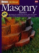Ortho's All About Masonry Basics Ortho's All About Home By Ortho Books New