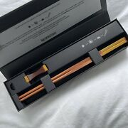 Nespresso Limited Edition Chopsticks Recycled Aluminum Wooden Volluto Capsules