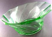 Vintage Lime Green Swirl Glass Bowl 8 6 Berry Bowls Sold Separately W7-3