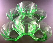 6 Vintage Lime Green Swirl Glass Berry Bowls 4 8 Bowl Sold Separately W7-3
