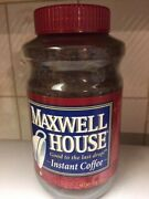 New Vintage Maxwell House Instant Coffee In Glass Jar 12 Oz