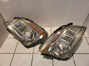 2008-2014 Cadillac Cts Left Hand + Right Hand Headlight Xenon Hid Oem Set Afs