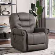 Lift Chair Recliner Dual Motor Polyester Micro-suede White Glove Delivery Gray