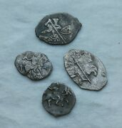 Lot Of 4 Medieval Silver Coin Ancient Vikings Of Kievan Rus