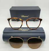 Chopard Sch273s 752p Womens Eye Glasses W Sun Clip-on 53-19-135 New W Case And Box