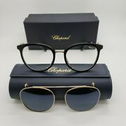 Chopard Sch273s 700p Womens Eye Glasses W Sun Clip-on 53-19-135 New W Case And Box