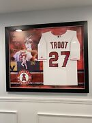 Mike Trout Autograph Jersey Coa Is Mlb