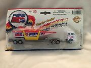 Vintage Pepsi Die Cast Semi Cab Truck W/ Cigarette Power Speed Boat And Trailer