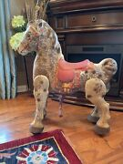 Vintage Antique Mobo Horse Bronco Child's Metal Ride On Toy D Sebel And Co England