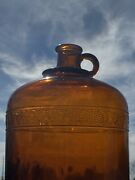 1928 Prohibition Whiskey Smuggler Gallon Embossed Bottle Owens Glass Canada 1 G