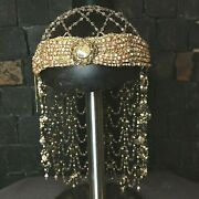 Michal Negrin Signed Statement Head Jewel Wedding Veil With Crystals