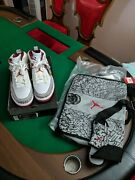 Ds Nwt Rare 06 Nike Air Jordan Spizike With Le Bag Whit/var Red Sz 10 315371-164