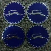 Impala Wire Wheel Emblems 4 Blue And Chrome Size 2.25 Zenith Style