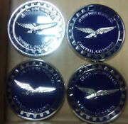 """Zenith Wire Wheels Chips 4 Campbell California Blue And Chrome Reverse Size 2.25"""""""