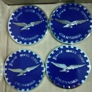 2.5andrdquo 2 1/2andrdquo Zenith Wire Wheel Corp. Chips Emblems Blue And Chrome Metal Set Of 4