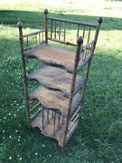 Antique Bamboo Chinoiserie Sheet Music Stand 1850-1890 Etagé End Table